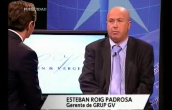 Captura de una entrevista a Esteban Roig en el año 2012
