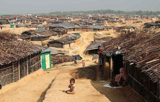 Fotografía de un campo de refugiados en Bangladesh.
