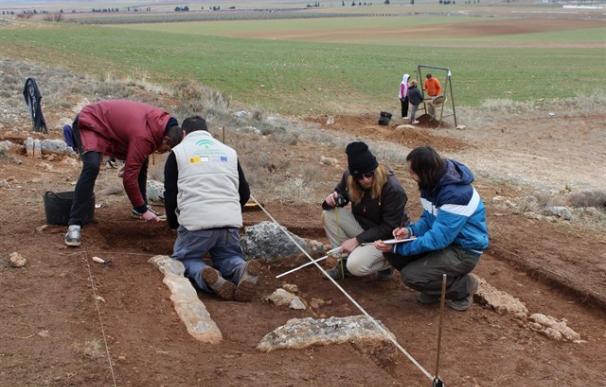 Fotografía de la necrópolis megalítica hallada en Granada.