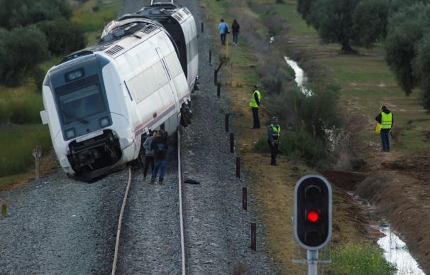 Tren descarrila en la línea Sevilla-Málaga