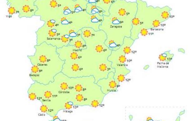 Temperaturas del martes
