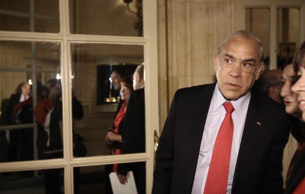 El secretario general de la Organización para la Cooperación y el Desarrollo Económico (OCDE), José Ángel Gurría, durante su última visita a España.