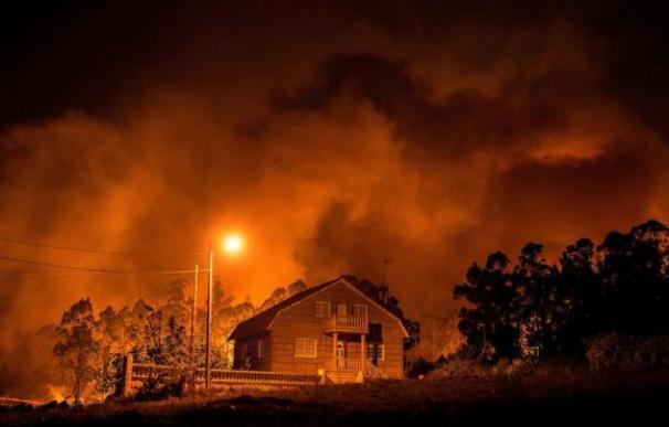 Fotografía de un incendio.