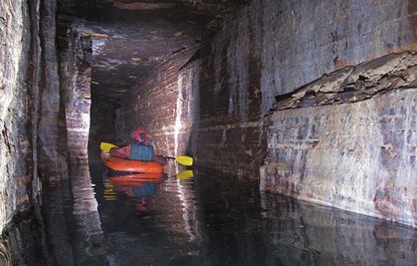 Fotografía de las cuevas de la Edad de Hielo descubiertas en Montreal.