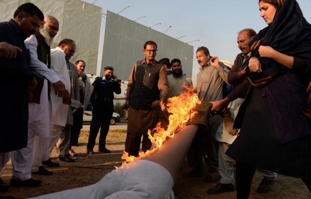 Protestas contra Trum en Peshawar (Pakistán)