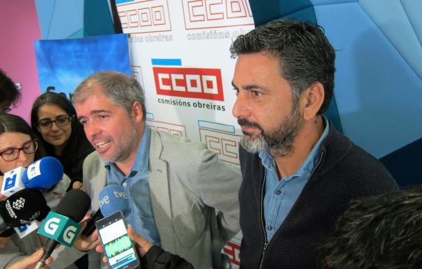 """Unai Sordo (CC.OO.) plantea """"ir hacia los 1.000 euros"""" de salario mínimo y reclama destinar un 15% del PIB a pensiones"""