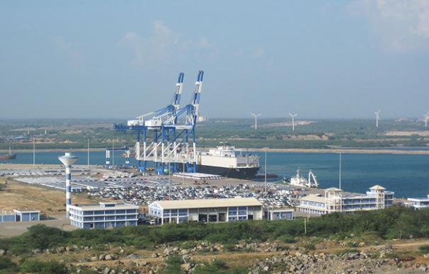 El puerto de Hambantota, alquilado por Sri Lanka a China