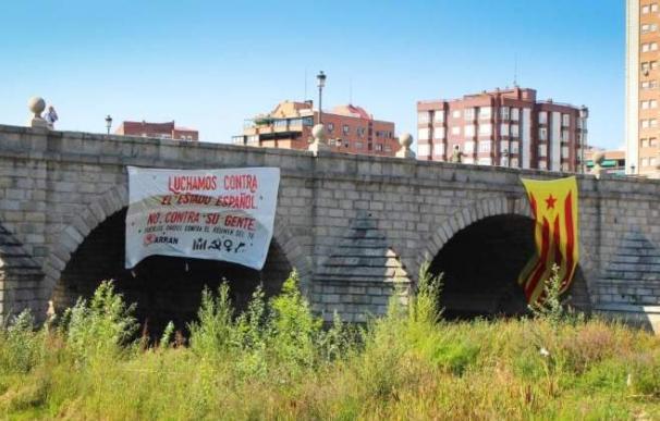 Estelada colgada en Madrid