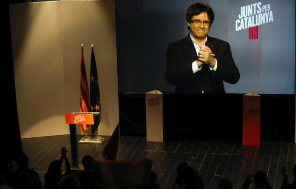 Intervención por videoconferencia del expresidente de la Generalitat, Carles Puigdemont