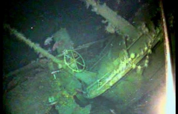 Restos del submarino australiano encontrado.