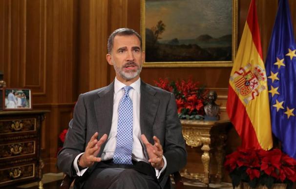 Fotografía del rey Felipe VI durante su discurso de Navidad