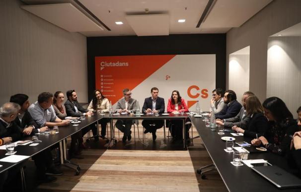 Reunión del comité ejecutivo de Ciudadanos tras las elecciones