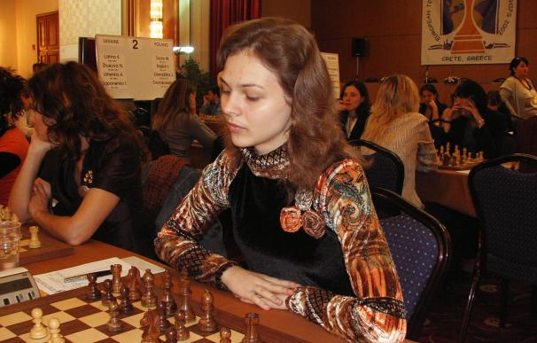 Fotografía de Anna Muzychuk, campeona del mundo de ajedrez.