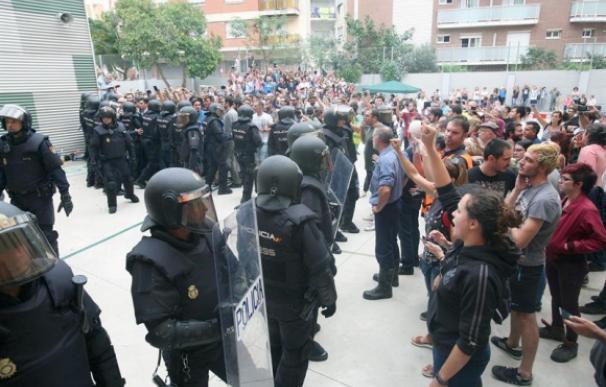 Fotografía de Policía en Barcelona durante el 1-O