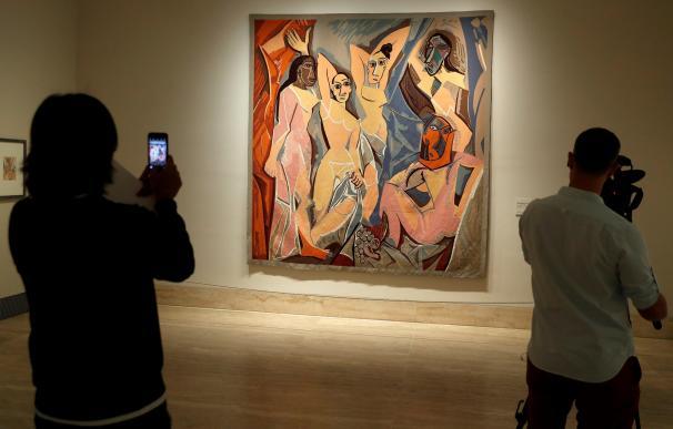 """Vista de la obra """"Las señoritas de Avignon"""", de Picasso,"""