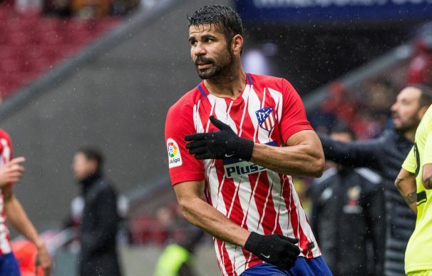 El delantero del Atlético de Madrid, Diego Costa, durante el partido de la 18ª jornada de Liga frente al Getafe, que los dos equipos disputaron en el estadio Wanda Metropolitano. EFE/ Rodrigo Jiménez