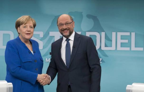 Angela Merkel y Martin Schulz, Alemania