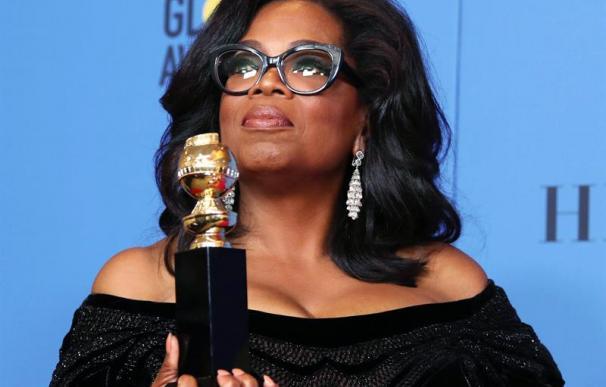Fotografía de Oprah Winfrey en los Globos de Oro