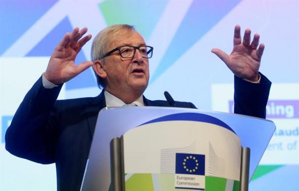 Fotografía de Jean Claude Juncker durante la comparecencia del 8 de enero de 2017