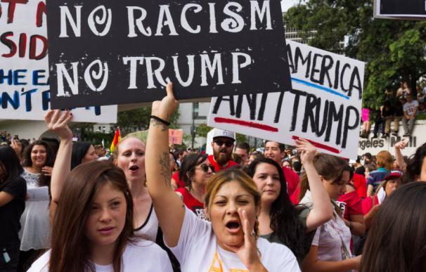 Fotografía en contra de las políticas migratorias de Trump