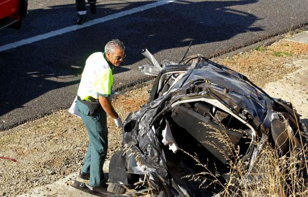 Tres muertos y un herido en un accidente de tráfico en el municipio navarro de Corella
