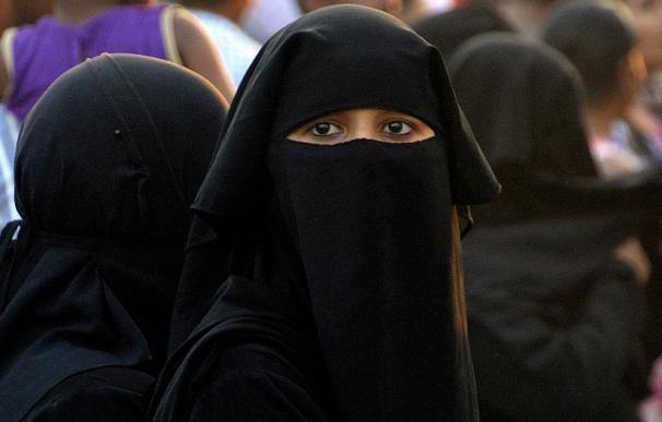 Fotografía de una mujer musulmana.