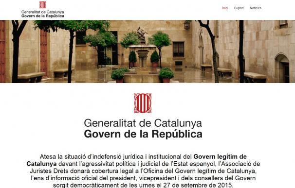 Fotografía de captura de la web publicada por Puigdemont