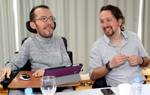 Echenique y Pablo Iglesias