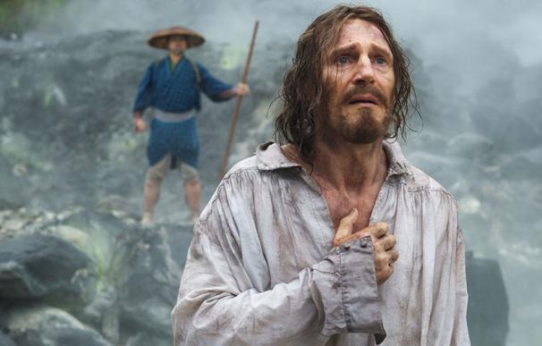 Liam Neeson en un fotograma de Silencio.