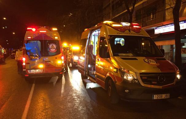 Noche de susto en Madrid