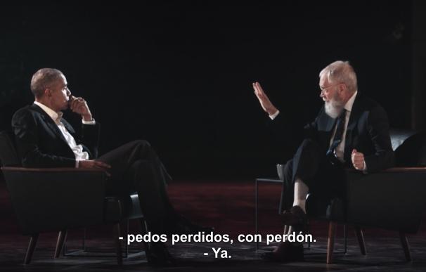 Obama y Letterman