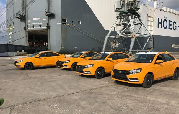 Los nuevos vehículos a su llegada al puerto habanero (Foto: ACN)