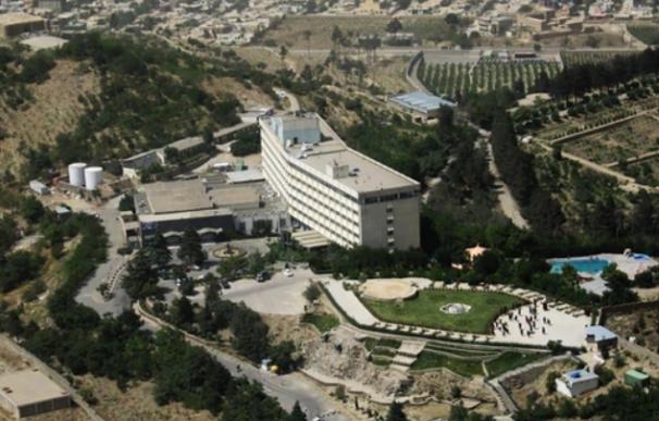 Una imagen del hotel atacado