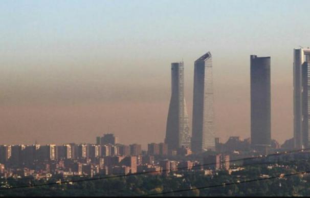 Fotografía de contaminación en Madrid