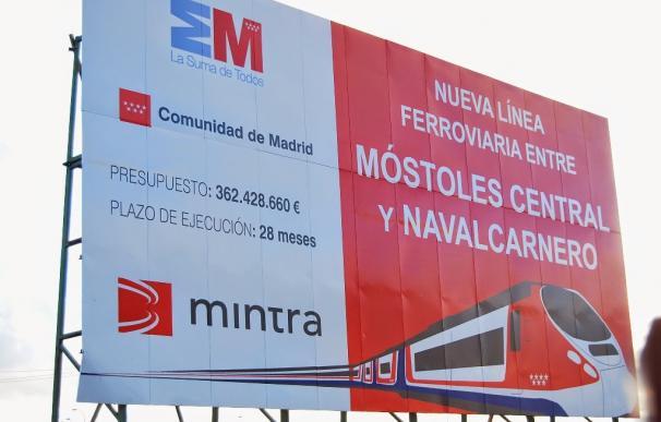 Cartel Cercanías Móstoles Navalcarnero