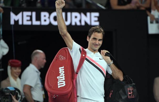 Federer tras pasar a la final del torneo.