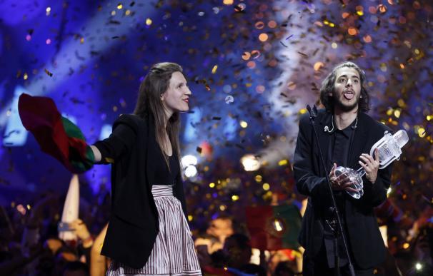 Momento en el que se proclama campeón el intérprete de Portugal. Efe