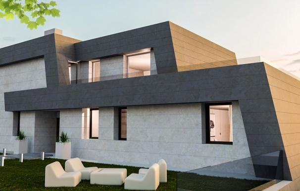 Fotografía de una casa Passivhaus.