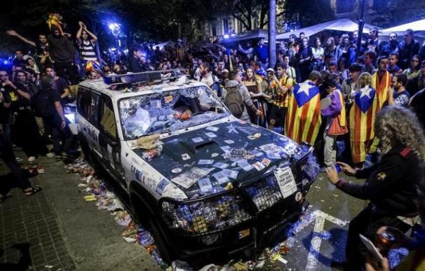 La Audiencia abre causa por sedición en los disturbios de Barcelona a 4 días del 1-O