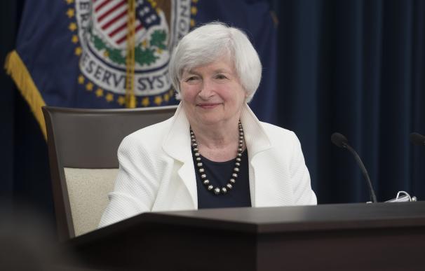Janet Yellen durante una comparecencia de la Fed