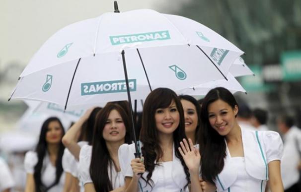 Fotografía de azafatas de la Fórmula 1.