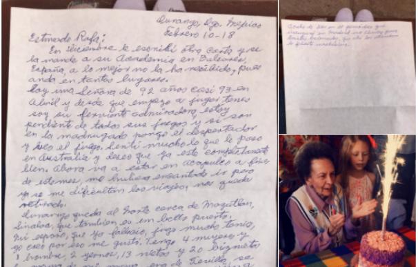 Carta a Nadal de su fan más veterana