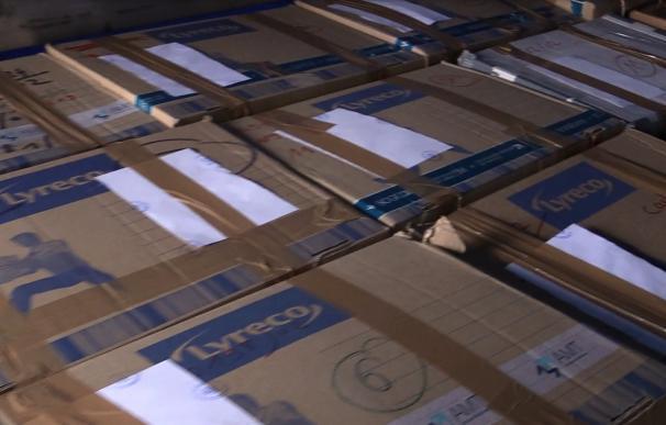 Caja de los documentos entregados