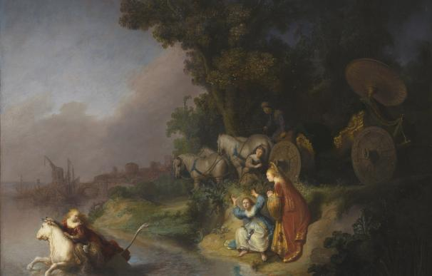 """El rapto de Europa"" de Rembrandt (1632, óleo sobre tabla), 62x77 cm, The Paul J. Getty Museum, Los Angeles."