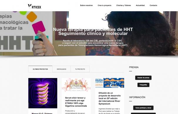 La española Vórticex es la primera plataforma para proyectos de ciencia e investigación