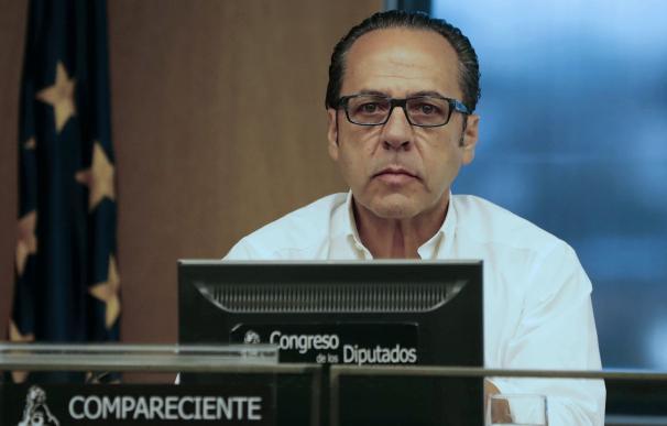Álvaro Pérez, 'el Bigotes', en el Congreso de los Diputados durante su comparecencia