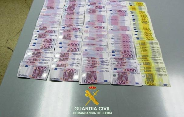 Aprehensión de efectivo en la frontera de España y Andorra