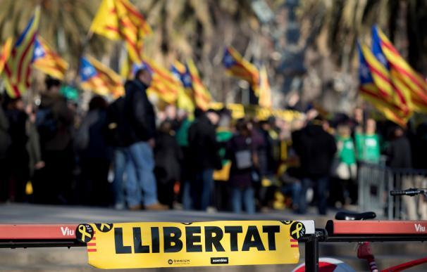 Concentración convocada por ANC en Barcelona