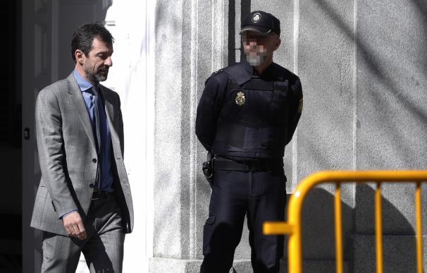 El jefe de los Mossos d'Esquadra, Ferran López, a su salida del Tribunal Supremo