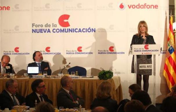 Encarna Samitier, durante su discurso en el Foro de la Nueva Comunicación celebrado en el Hotel Ritz de Madrid.